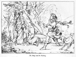 The Saga of Lorelei, Engraved by J. Dielmann by Alfred Rethel