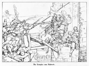 The Templars of Lahneck, Engraved by J. Dielmann by Alfred Rethel