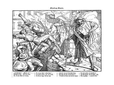 Totentanz 1848: Death leads revolutionary citizens
