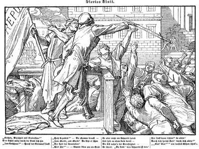 Totentanz 1848: Death offers the sword of Justice