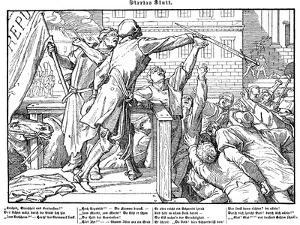 Totentanz 1848: Death offers the sword of Justice by Alfred Rethel