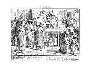 Totentanz 1848: Death proves that all men are equal by Alfred Rethel