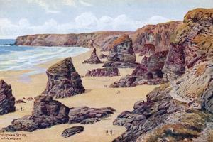 Bedruthan Steps, Nr. Newquay by Alfred Robert Quinton
