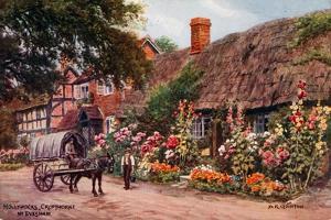 Hollyhocks, Cropthorne, Evesham by Alfred Robert Quinton