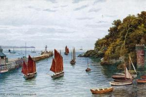 Looe, Entrance to Harbour by Alfred Robert Quinton