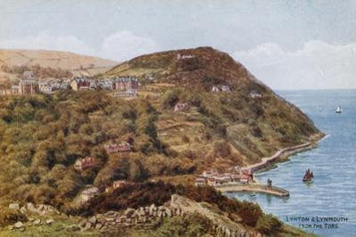 Lynton and Lynmouth from the Tors by Alfred Robert Quinton