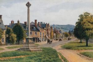 Memorial Cross, Broadway, Worcestershire by Alfred Robert Quinton