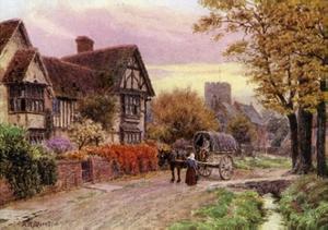October Evening at Steventon, Berkshire by Alfred Robert Quinton
