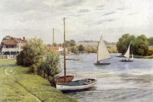 Racing Boats, Bourne End by Alfred Robert Quinton