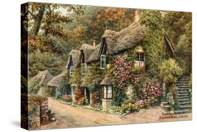 Thatched Cottages, Blackpool Sands, S Devon by Alfred Robert Quinton
