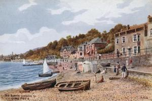 The Beach Looking W, Lyme Regis by Alfred Robert Quinton