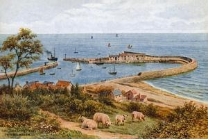 The Cobb, Lyme Regis, from Holmbush by Alfred Robert Quinton