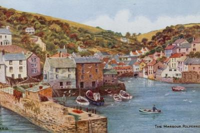 The Harbour, Polperro by Alfred Robert Quinton