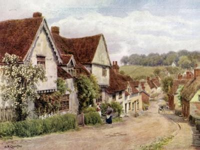 The Village Street, Kersey, Suffolk by Alfred Robert Quinton