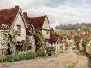 The Village Street, Kersey, Suffolk by Alfred Robert Quinton