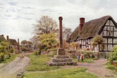 Village Cross, Ashton-Under-Hill, Gloucester by Alfred Robert Quinton