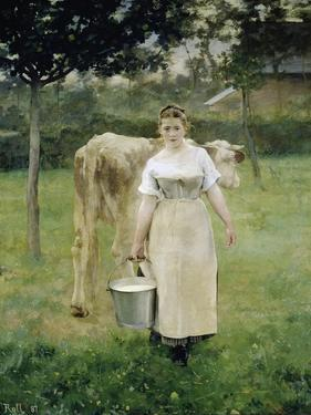 The Farm Maid, 1887 by Alfred Roll