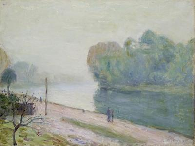 A Bend in the River Loing, 1896 by Alfred Sisley