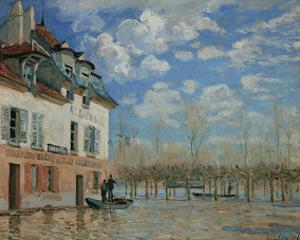 A Boat During the Flood at Port Marly, c.1876 by Alfred Sisley