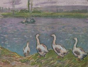 'A Sketch in Pastels', 19th century by Alfred Sisley