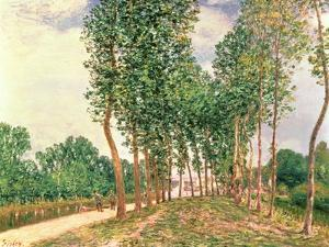 Banks of the Loing, Near Moret by Alfred Sisley