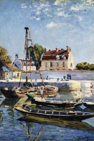 Barges, 1885 by Alfred Sisley