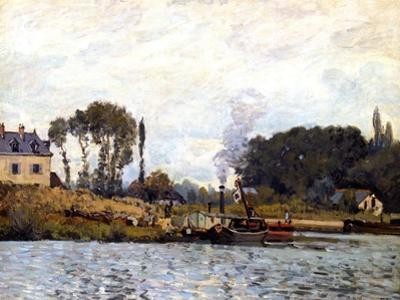 Boats on the Canal, 1873 by Alfred Sisley