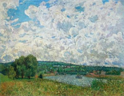 Bords de la Seine by Alfred Sisley