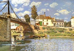 Bridge at Villeneuve-La-Garenne by Alfred Sisley