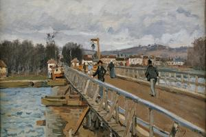 Bridge in Argenteuil by Alfred Sisley