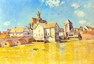 Alfred Sisley Bridge of Moret in Morning Sun Art Print Poster