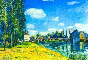 Alfred Sisley Bridge of Moret in Summer Art Print Poster
