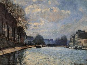 Canal Saint Martin by Alfred Sisley
