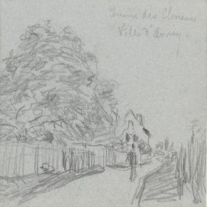 Chemin des Closeaux, à Ville d'Avray by Alfred Sisley