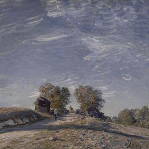 Chemin montant au soleil by Alfred Sisley