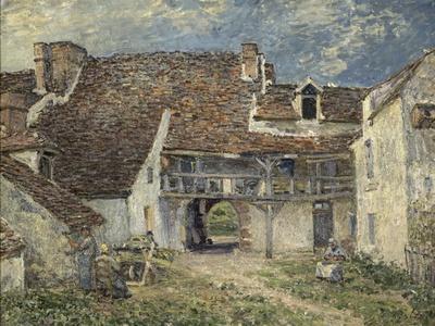 Cour de ferme à Saint Mammès (Seine et Marne)
