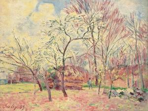 First Day of Spring in Moret, 1889 by Alfred Sisley