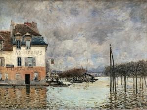 Floating in Port-Marly by Alfred Sisley