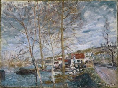 Flood at Moret (Inondation À More), 1879 by Alfred Sisley