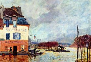 Alfred Sisley Flood at Port Marly 2 Art Print Poster