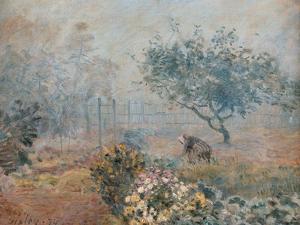 Fog at Voisins by Alfred Sisley
