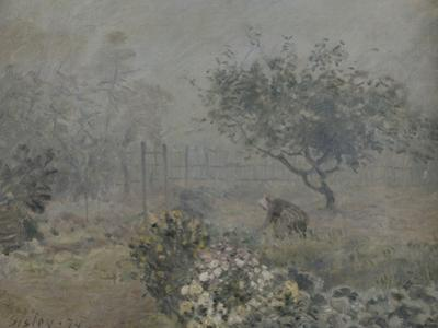 Fog in Voisins, c.1874 by Alfred Sisley