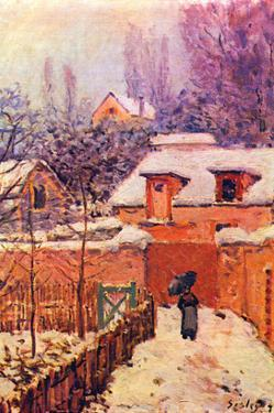 Garden in the Snow by Alfred Sisley