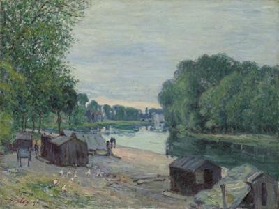 Huts at the Edge of the Loing; Cabanes Au Bord Du Loing, 1896 by Alfred Sisley