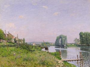 Ile Saint-Denis, 1872 by Alfred Sisley