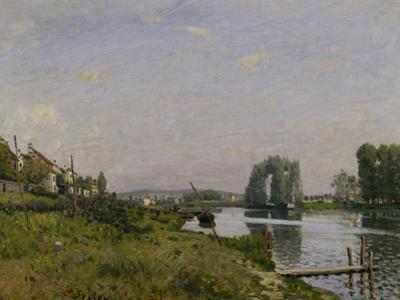 L'Ile Saint Denis, c.1872 by Alfred Sisley