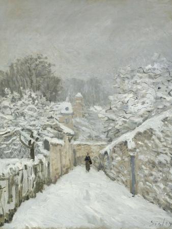 La neige à Louveciennes (Yvelines)