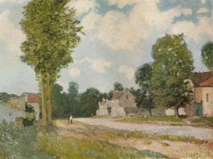 La Route de Versailles, 19th century, (1929) by Alfred Sisley