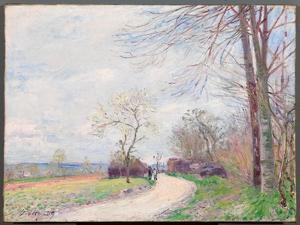 Le Chemin des Buttes (au Printemps), 1889 by Alfred Sisley