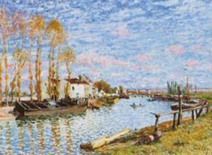 Le Loing A Saint-mammes by Alfred Sisley